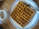 Waffle with paleo syrup