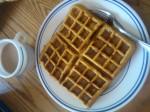 Waffle with paleo syrup
