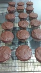 Paleo chocolate chocolate chip cupcakes with chocolate hazelnut frosting