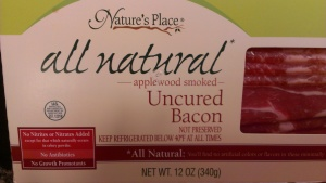 Search your grocery store, you will usually find at least one brand of uncured nitrate free bacon!