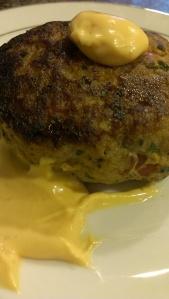 Paleo turkey burger with sriracha aioli