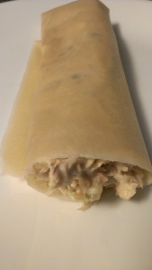 Julian Bakery Paleo Wrap filled with Paleo Tuna Salad