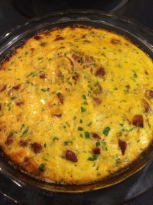 Whole 30 Spaghetti squash chorizo quiche