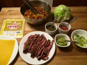 Whole 30 Steak Fajitas (only 2# flank steak in photo)