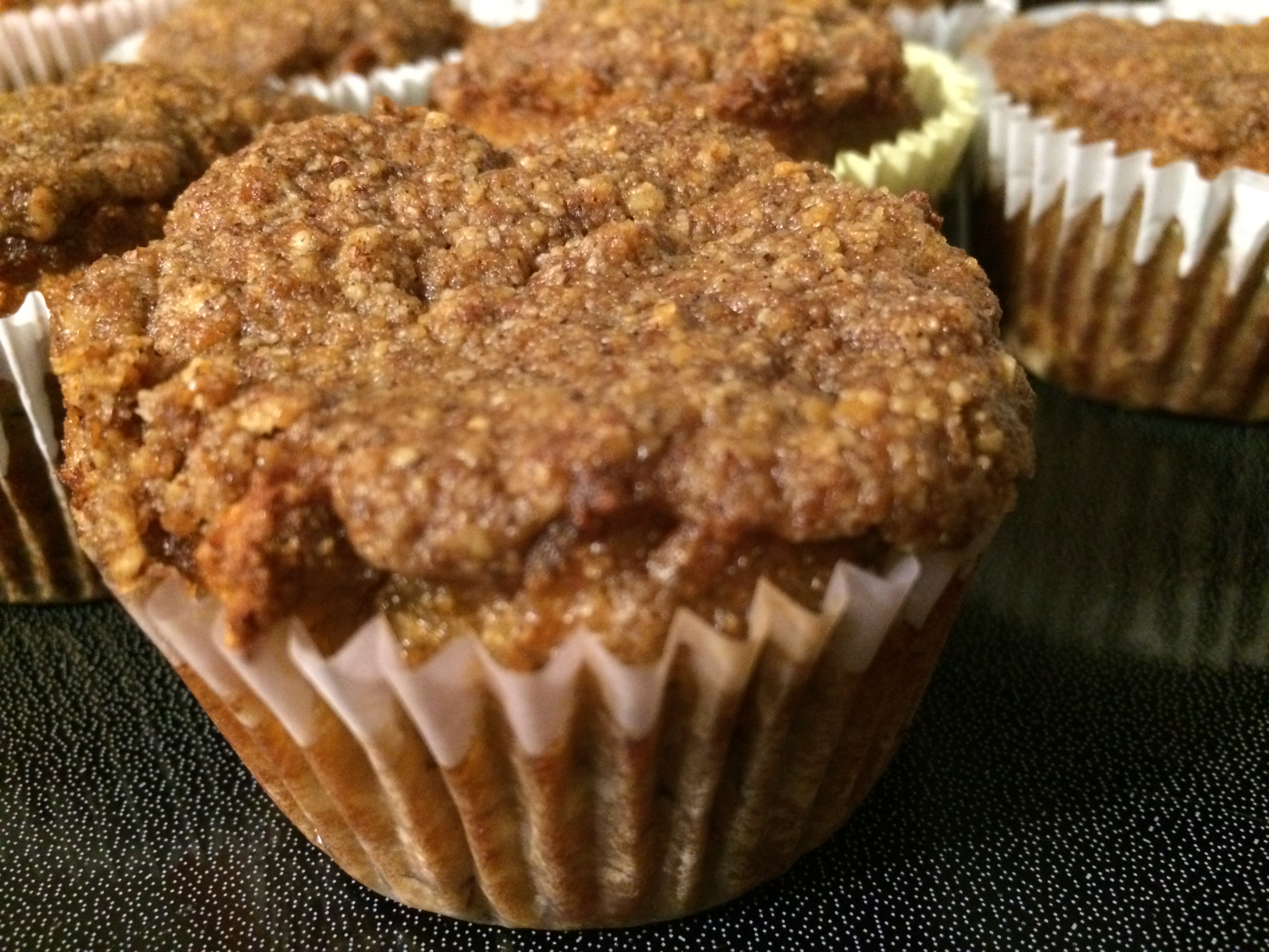 Paleo Banana Coffee Cake Muffins | Delicious Primal Cooking