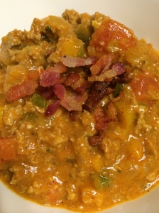 Paleo and Whole 30 jalapeno popper turkey chili