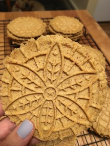 Paleo pizzelle cookies